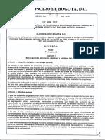 Plan de Desarrollo Bogota 2012 2016