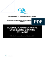 CAPE Building and Mechanical Engineering Syllabus With Specimen Papers