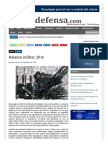 Balance Militar 2016-Noticia Defensa Nacional
