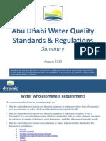 Abu Dhabi Water Quality Standards & Regulations