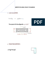 Predimensionamiento de Losas, Vigas y Columnas