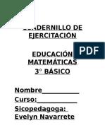 CUADERNILLO DE EJERCITACIÓN MATEMÁTICAS 3° BÁSICO.doc