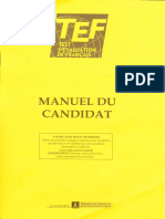 Test d'Evaluation de Francais (TEF) - Manuel Du Candidat (2008)