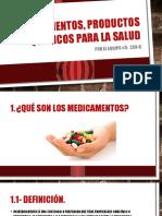 Medicamentos, Productos Químicos Para La Salud