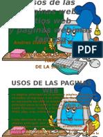 Usos de Las Paginas Web