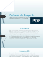 Defensa de Proyecto