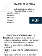 Especificación de La Falla