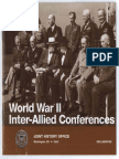 Casablanca Conference January 1943 Papers and Minutes of Meetings