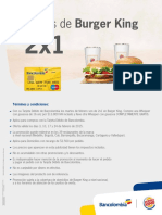 Promocion Burguer King