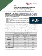REBNY Affordable Housing Analysis - April 2016