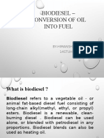 Biodesel –conversion of oil into fuel.pptx
