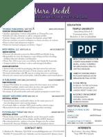 mara model resume published content