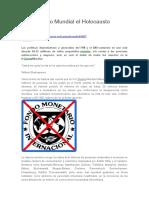 FMI y Banco Mundial. El Holocausto Silenciado