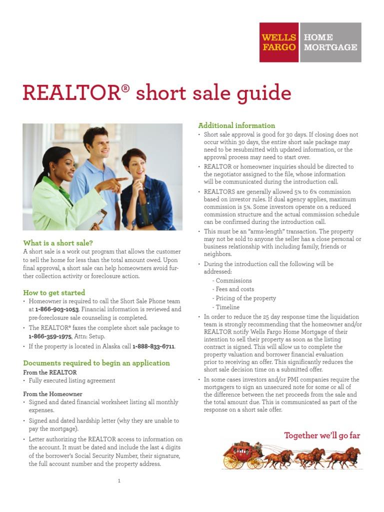 wells fargo short sale guide short sale real estate short rh scribd com Wells Fargo View My Accounts Wells Fargo Sign On