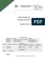 Fiansa-poc-21 Procedimiento de Mejora Continua