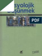 Sosyolojik Düşünmek _ Zygmunt Bauman