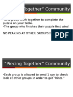 piecing together community
