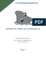 Capa Projeto Atividade Aquática