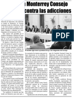 28-04-16 Instalan en Monterrey Consejo municipal contra las adicciones