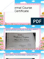 formal course certificate