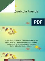 extra curricula awards