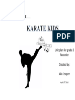 recorder karate kids unit plan