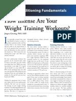 Weight Training Intensity