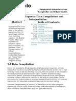 Airborne Magnetic Data Compilation and Interpretation