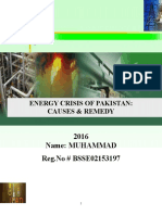 Energy Crisis of Pakistan