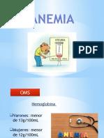 Anemia y Evaluación