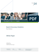 Search Accuracy Analytics White Paper