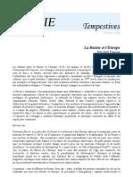 PO&SIE /// Tempestives 004 /// Michel Deguy