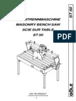 Golz ST50 Parts Catalog
