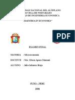 Examen Final Microeconomía