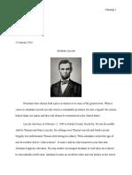 abraham lincoln essay