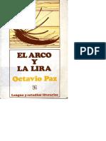 El arco y la lira Octavio Paz.pdf