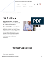 SAP HANA on Premise Deployment _ in-Memory Database Platform
