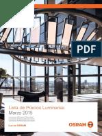 Lista de Precios Luminarias España Marzo 2015
