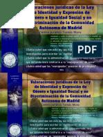 Valoraciones Juridicas de La Ley de Identidad y Expresion de Genero e Igualdad Social y No Discriminacion