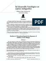 Analisis Del Desarrollo Fonologico
