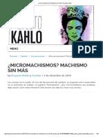 ¿Micromachismos_ Machismo Sin Más _ Proyecto Kahlo
