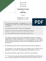 United States v. Childs, 266 U.S. 304 (1924)