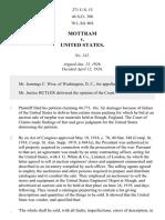 Mottram v. United States, 271 U.S. 15 (1926)