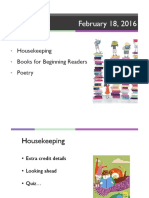 5 Beginning Readers; Poetry