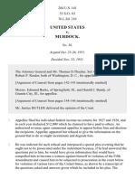 United States v. Murdock, 284 U.S. 141 (1931)