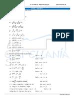 1BCS Ejercicios Temas 03 Álgebra, 04 Funciones Elementales, 05 Funciones