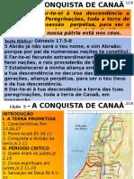 1 L5 - A Conquista de Canaa