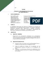 Tecnicas y Procedimientos Policiales de Investigacion II (REGULARES)