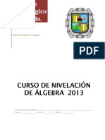 Cuadernillo Algebra Alumno 2013