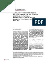 Resolución de Contrato Por Incumplimiento de Obligación Esencial No Pactada en La Lce